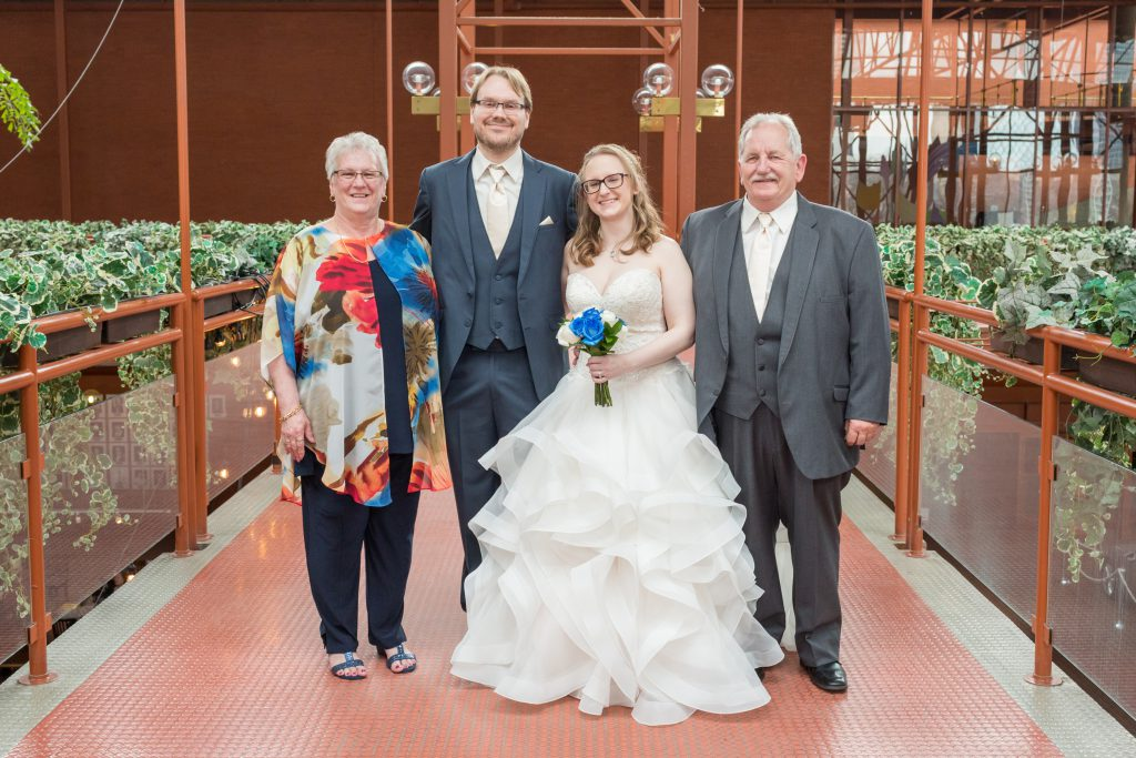 citadel wedding photo with family