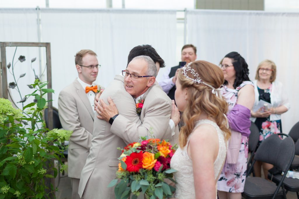 greenhouse wedding ceremony