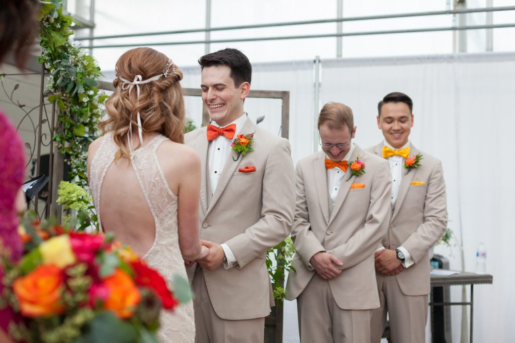 greenland garden wedding cermony photos