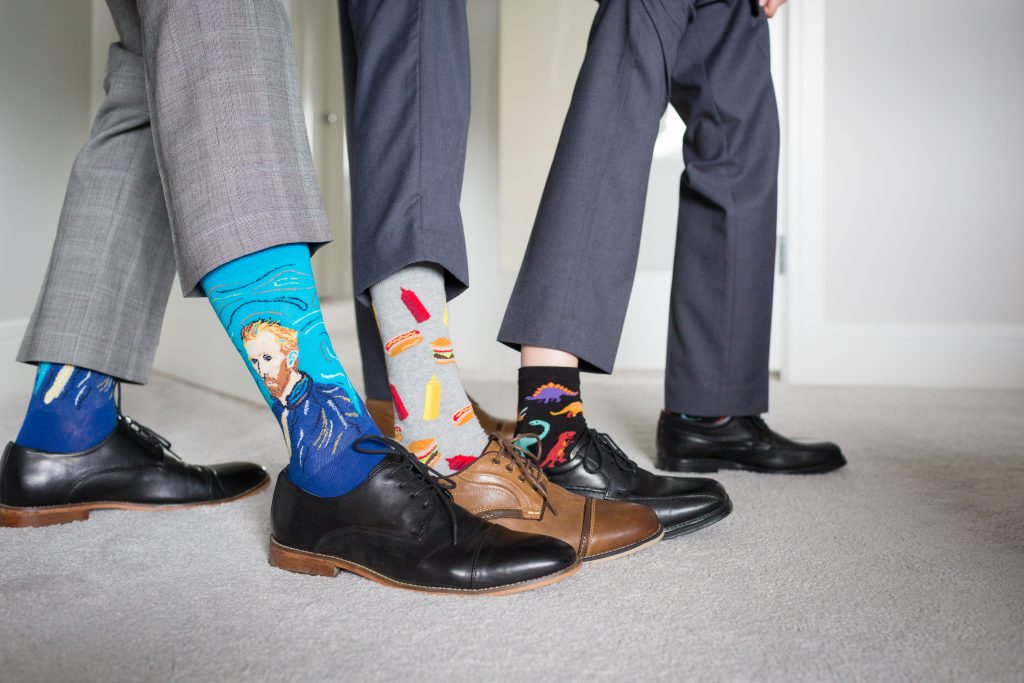 fun wedding socks