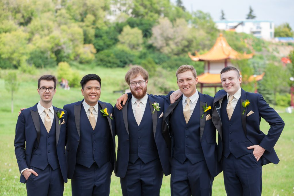 groomsmen portrait edmonton