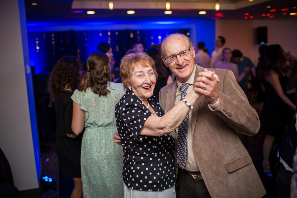 grandparents dancing during wedding