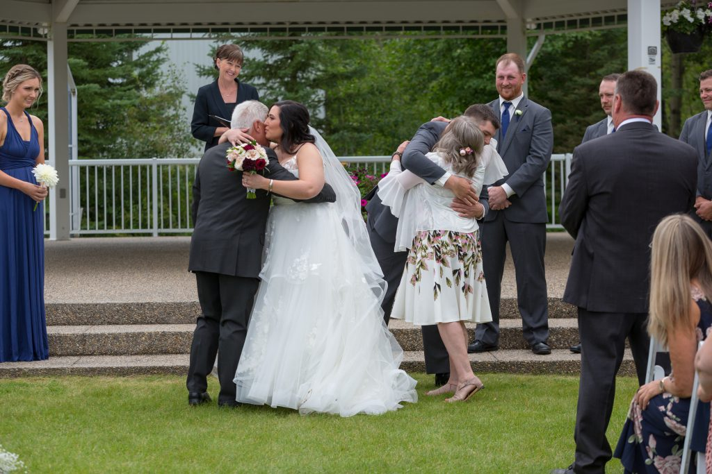 emotional wedding ceremony photos