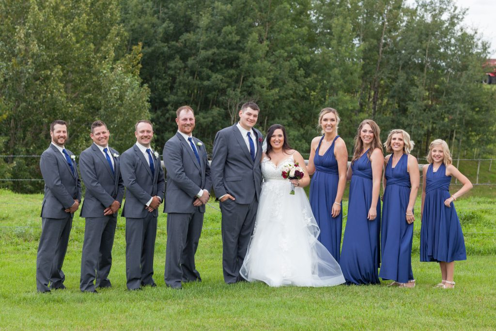 wedding party portraits