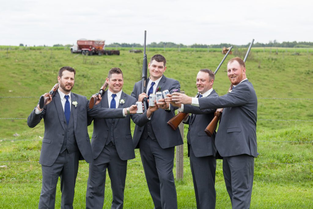 groomsmen portrait with rifles