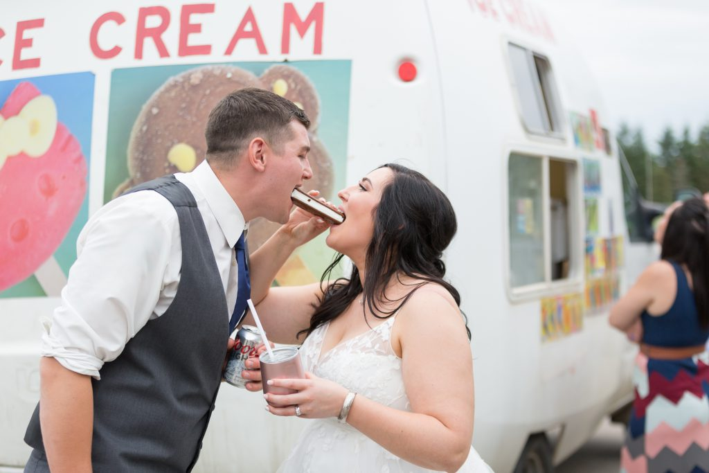 ice cream truck at wedding ceremony