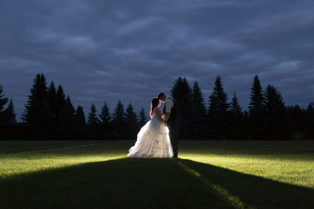 epic wedding portraits at night