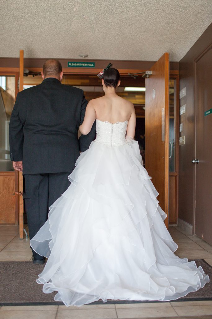 bride walking in to ceremony