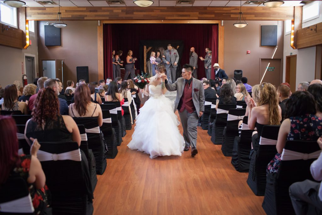 fun wedding processional wedding photos