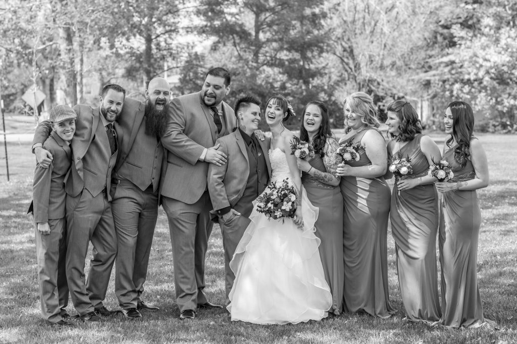 candid wedding party photos